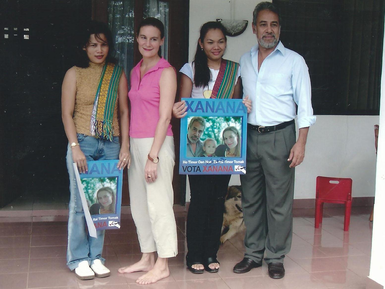Sakhorn Knott mit Präsident Xanana Gusmão und seiner Frau